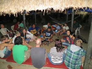 Nightly kava at Bamboo Backpackers